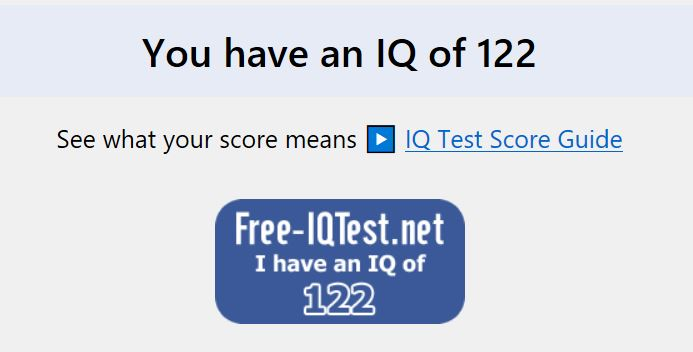 The Free IQ Test… | Our Love Frontier